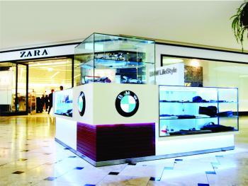 Isla en centro comercial: BMW